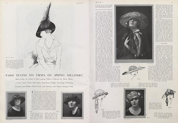 Article Preview: Paris States its Views on Spring Millinery, March 1 1921 | Vogue