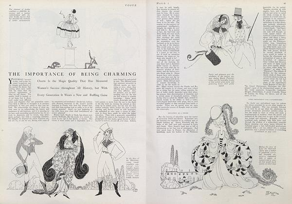 Article Preview: The Importance of Being Charming, March 1 1921 | Vogue