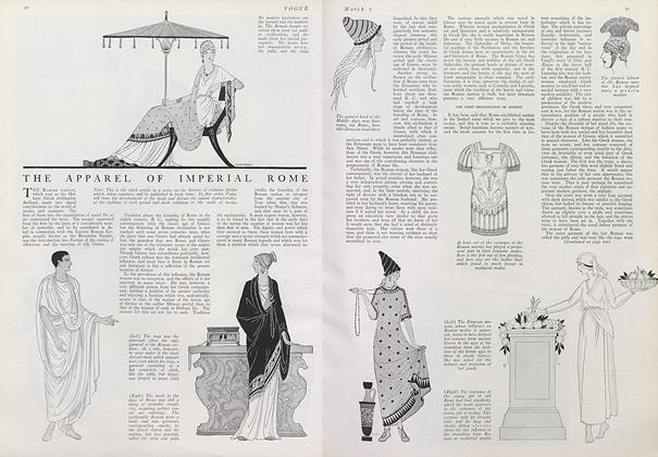 Article Preview: The Apparel of Imperial Rome, March 1 1921 | Vogue