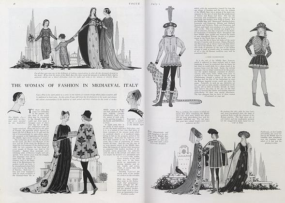 The Woman of Fashion in Mediaeval Italy