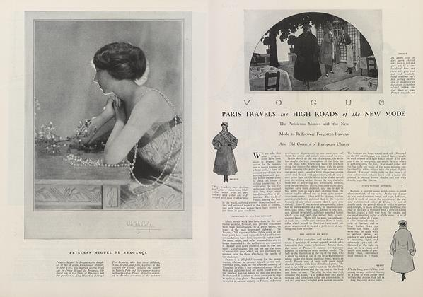 Article Preview: Paris Travels the High Roads of the New Mode, July 15 1921 | Vogue