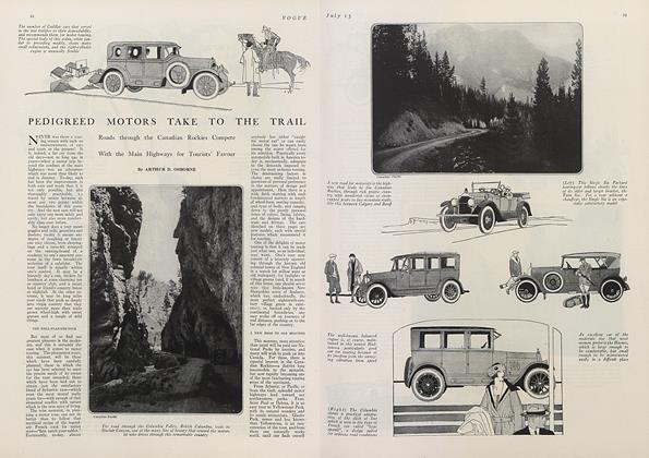Article Preview: Pedigreed Motors Take to the Trail, July 15 1921 | Vogue