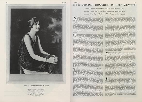 Article Preview: Some Cooling Thoughts for Hot Weather, July 15 1921 | Vogue