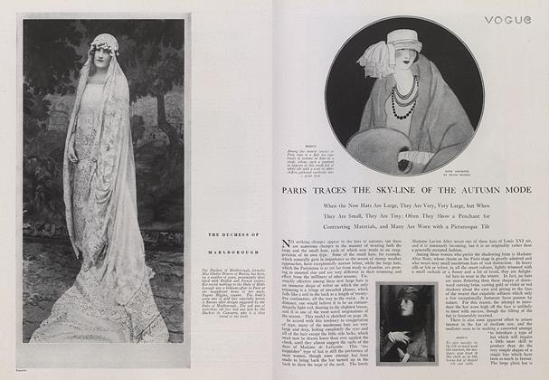 Article Preview: Paris Traces the Sky-Line of the Autumn Mode, September 15 1921 | Vogue