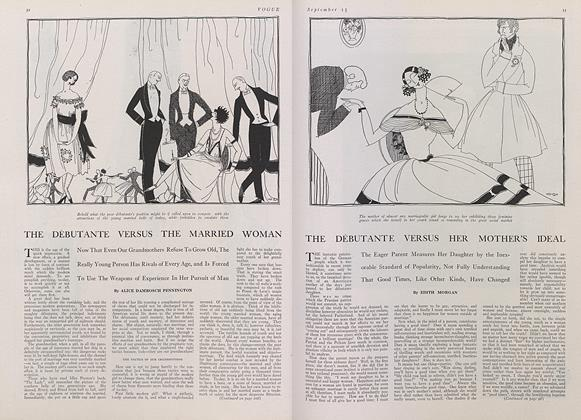 Article Preview: The Debutante Versus her Mother's Ideal, September 15 1921 | Vogue
