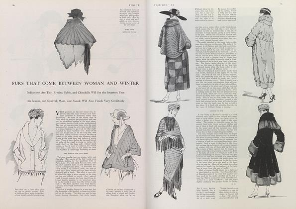 Article Preview: Furs That Come Between Woman and Winter, September 15 1921 | Vogue