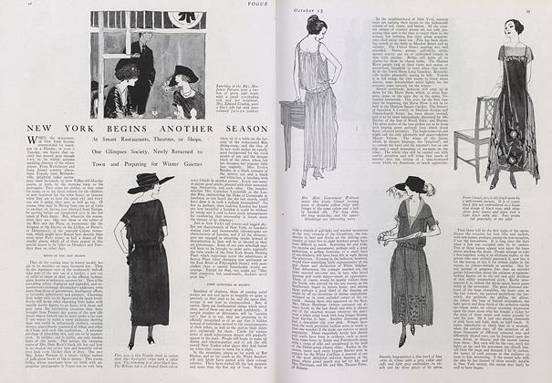 Article Preview: New York Begins Another Season, October 15 1921 | Vogue