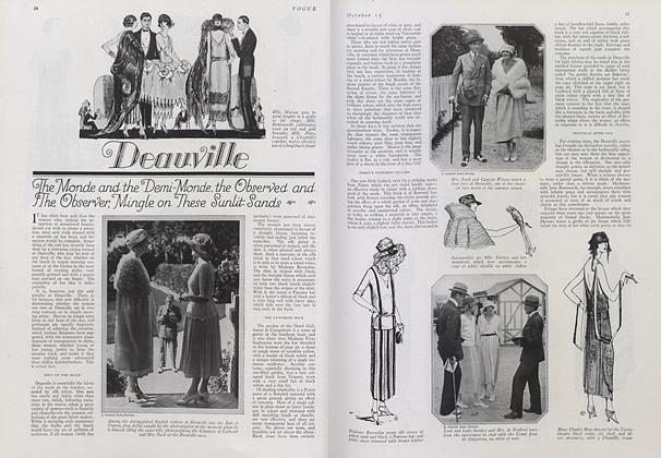 Article Preview: On the Sun-Lit Sands of Deauville, October 15 1921 | Vogue