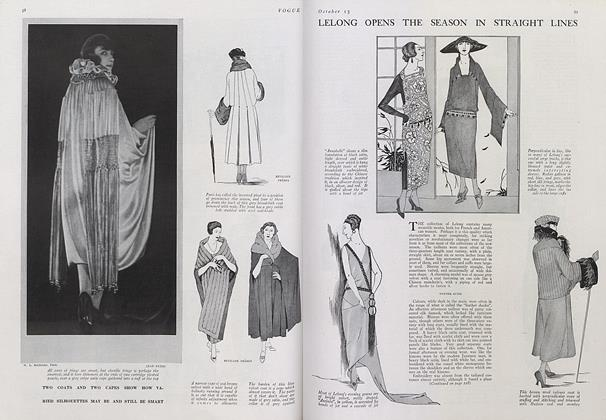 Article Preview: Lelong Opens the Season in Straight Lines, October 15 1921 | Vogue