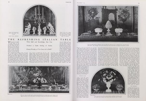 Article Preview: The Refreshing Italian Table, October 15 1921 | Vogue