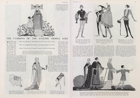 The Fashions of the English Middle Ages