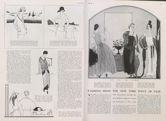 Article Preview: Fashions from the New York Point of View, May 1 1922 | Vogue