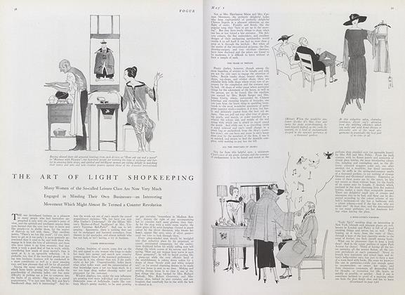 Article Preview: The Art of Light Shopkeeping, May 1 1922 | Vogue