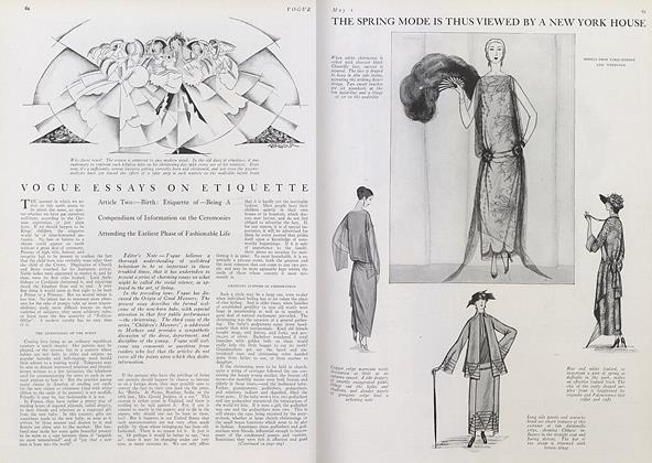 Article Preview: Vogue Essays on Etiquette, May 1 1922 | Vogue
