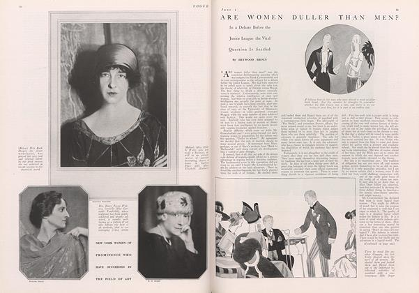Article Preview: Are Women Duller Than Men?, June 1 1922 | Vogue