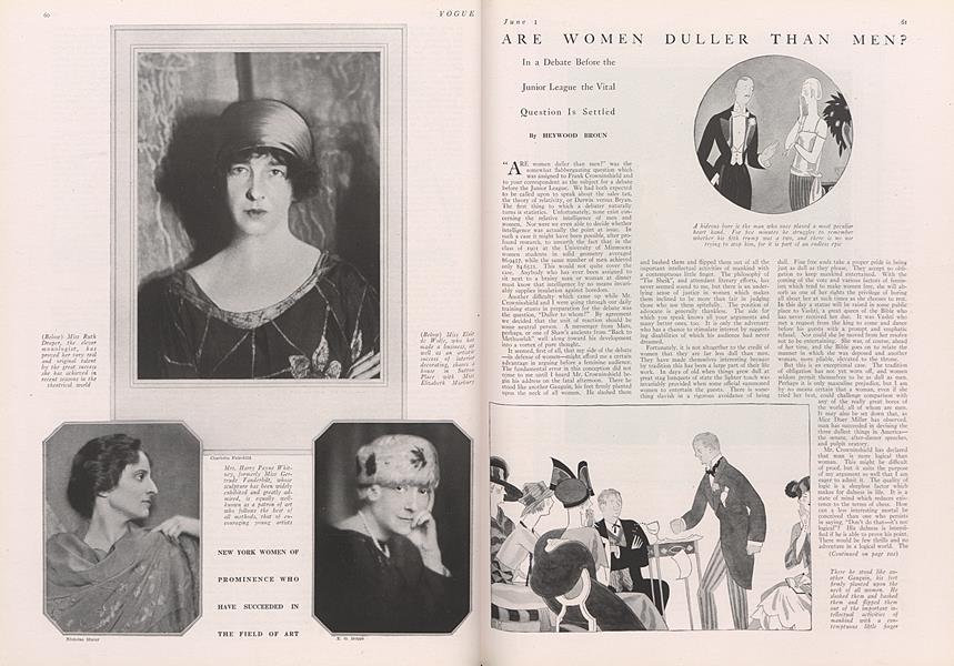 Are Women Duller Than Men?
