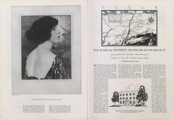 Article Preview: Inn-Ward the Motorist Wends his Outward Way, July 15 1922 | Vogue