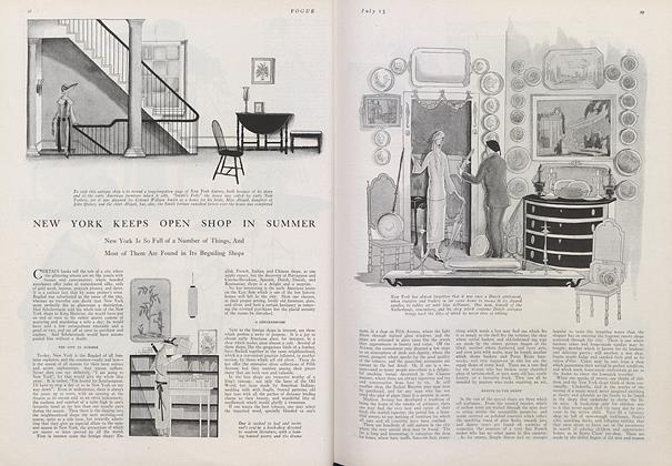 Article Preview: New York Keeps Open Shop in Summer, July 15 1922 | Vogue