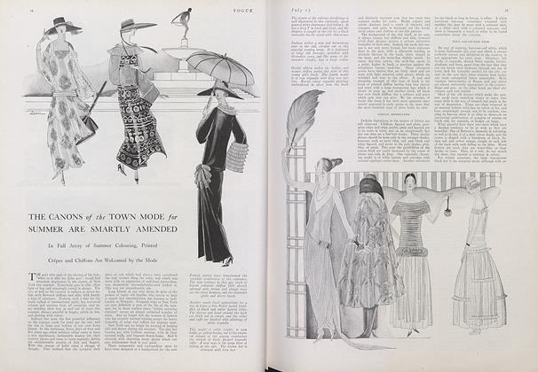 Article Preview: The Canons of the Town Mode for Summer Are Smartly Amended, July 15 1922 | Vogue