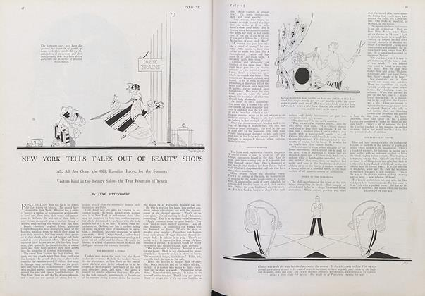 Article Preview: New York Tells Tales out of Beauty Shops, July 15 1922 | Vogue
