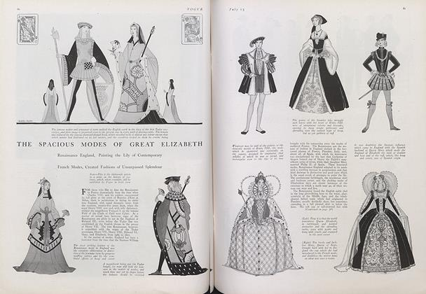 Article Preview: The Spacious Modes of Great Elizabeth, July 15 1922 | Vogue