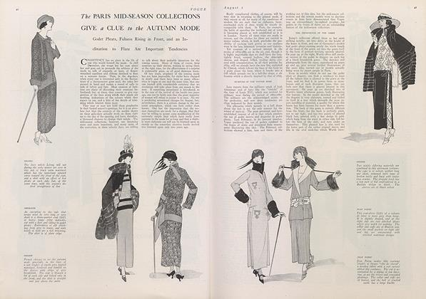 Article Preview: The Paris Mid-Season Collections Give a Clue to the Autumn Mode, August 1 1922 | Vogue