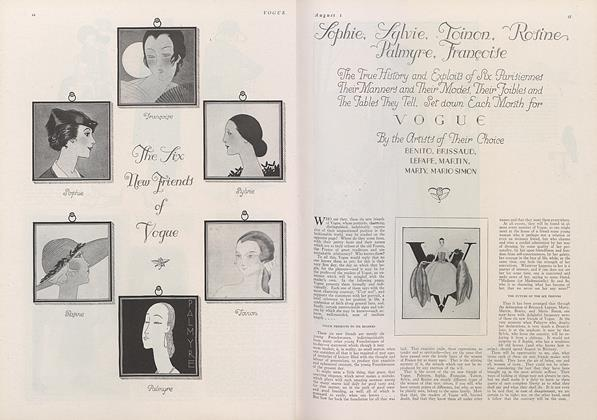 Article Preview: The Six New Friends of Vogue, August 1 1922 | Vogue