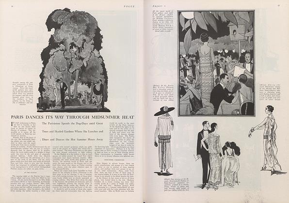Article Preview: Paris Dances Its Way Through Midsummer Heat, August 1 1922 | Vogue