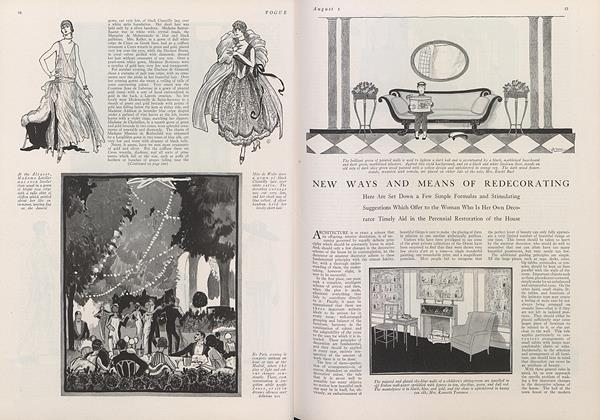 Article Preview: New Ways and Means of Redecorating, August 1 1922 | Vogue