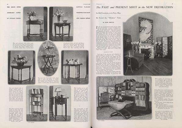 Article Preview: The Past and Present Meet in the New Decoration, August 1 1922 | Vogue