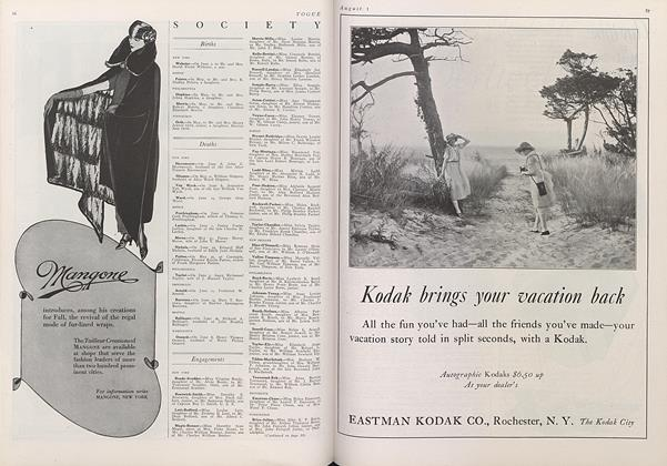 Article Preview: , August 1 1922 | Vogue