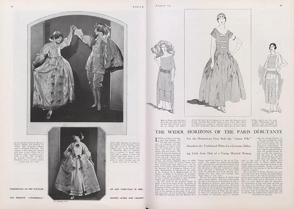 Article Preview: The Wider Horizons of the Paris Debutante, August 15 1922 | Vogue