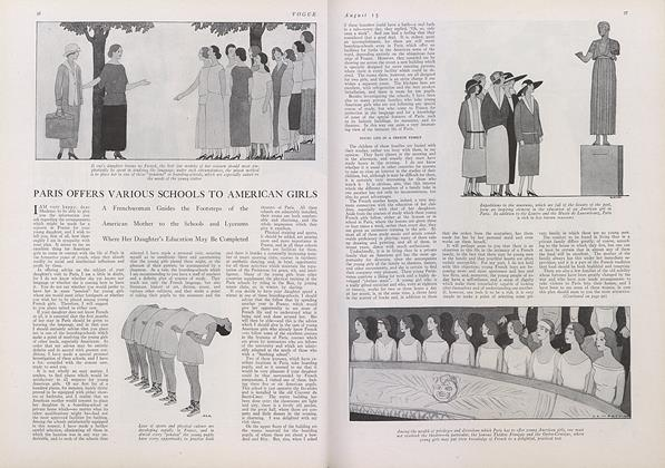 Article Preview: Paris Offers Various Schools to American Girls, August 15 1922 | Vogue