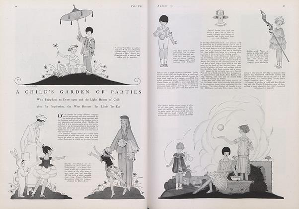 Article Preview: A Child's Garden of Parties, August 15 1922 | Vogue