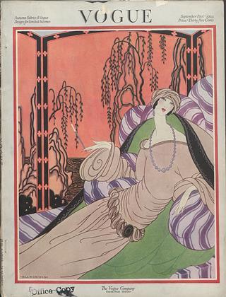 September 1, 1922 | Vogue