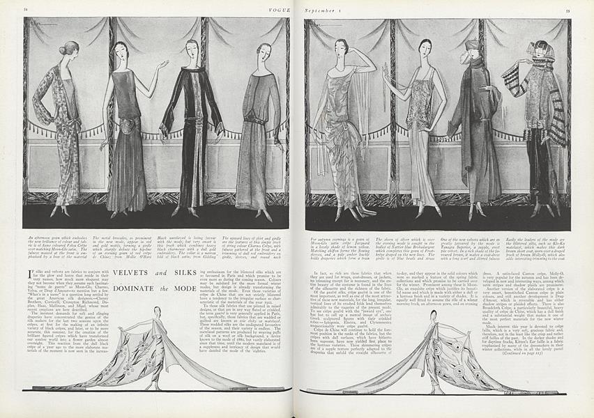 Velvets and Silks Dominate the Mode