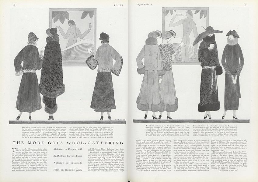 The Mode Goes Wool-Gathering