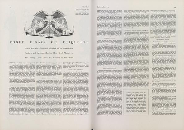 Vogue Essays on Etiquette