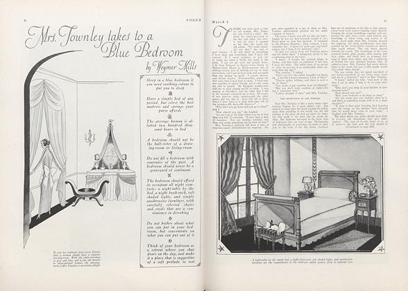 Mrs. Townley Takes to a Blue Bedroom