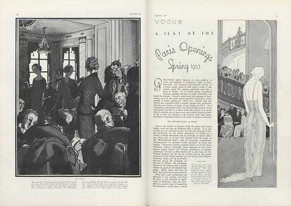 A Seat at the Paris Openings, Spring 1923