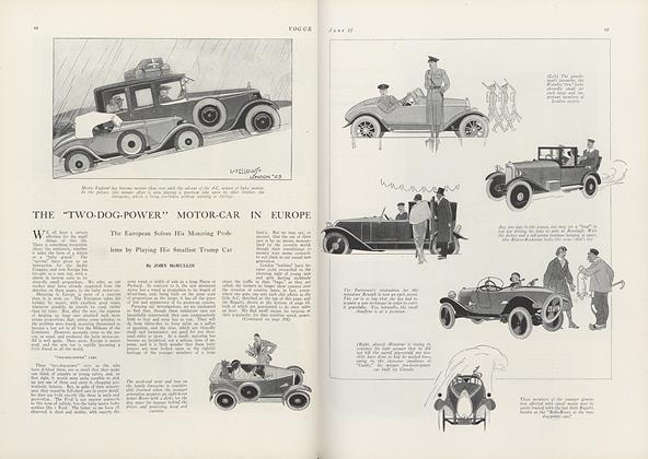 """The """"Two-Dog-Power"""" Motor-Car in Europe"""