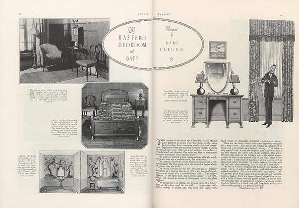 The Master's Bedroom and Bath: Designed by Karl Freund