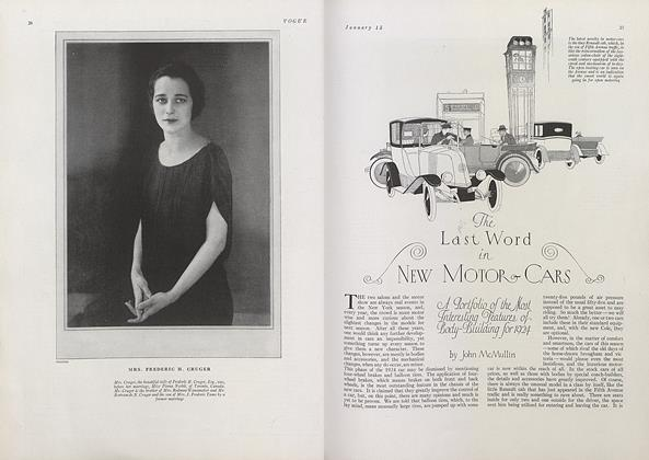 The Last Word in New Motor-Cars