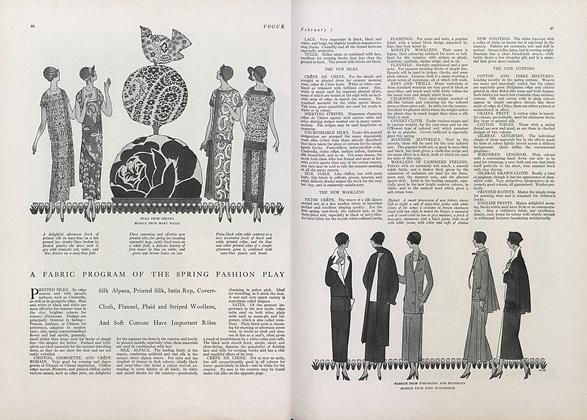 A Fabric Program of the Spring Fashion Play