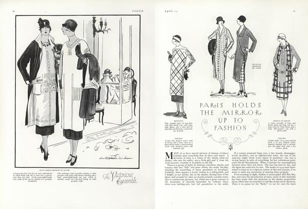 Article Preview: Paris Holds the Mirror up to Fashion, April 15 1924   Vogue