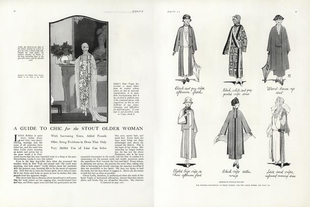 Article Preview: A Guide to Chic for the Stout Older Woman, April 15 1924 | Vogue