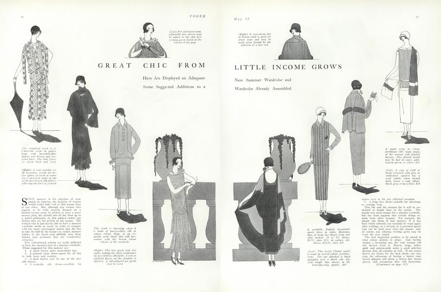 Great Chic from Little Income Grows