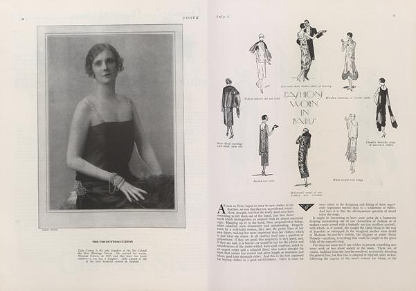 Article Preview: Fashions Worn in Paris, July 1 1924 | Vogue