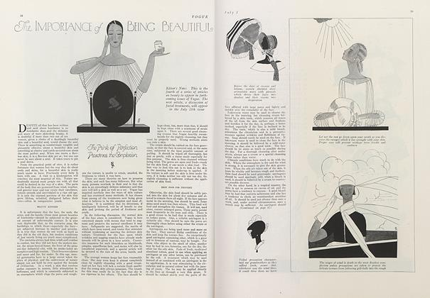 Article Preview: The Importance of Being Beautiful, July 1 1924 | Vogue
