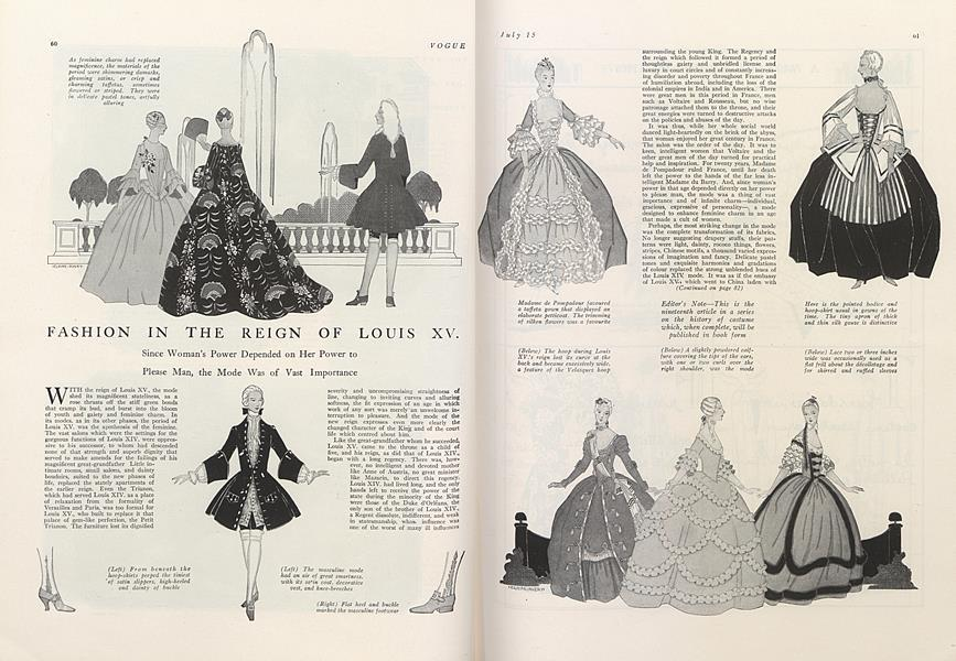 Fashion in the Reign of Louis XV.